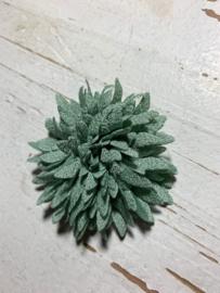 Vintage bloem old green 7cm
