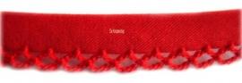 Biasband met kantje rood