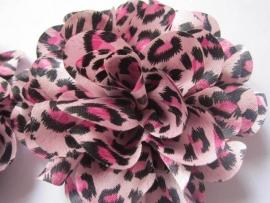 Bloem tijger/roze 8 cm
