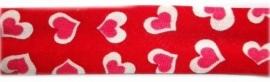 Biasband rood & hartje