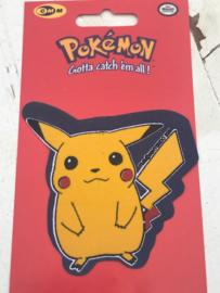 Pikachu Pokemon blauw strijkapplicatie