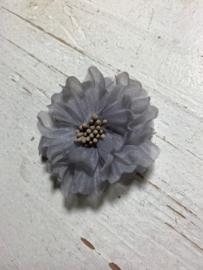 Vintage bloem grijs 5cm