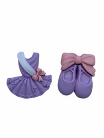 Balletschoentjes lila flatback