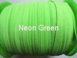 Skinny haarband elastiek neon groen