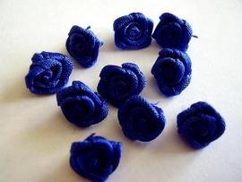 R017a Roosjes kobalt blauw 1cm  (10)
