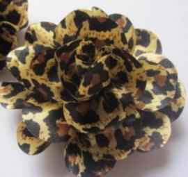 Bloem tijger/bruin 8 cm