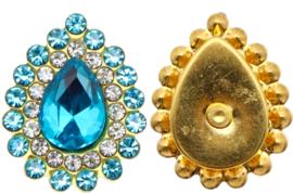 Flatback rhinestone druppel luxe  blue