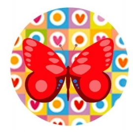Flatback vlinder hart/vierkant