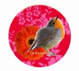 Flatback bloemen vogel(k831)