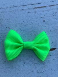 Vlinderstrikje neon groen 3cm