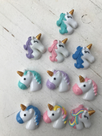 Unicorn Flatback blauw links