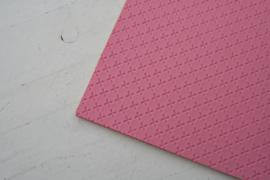 Leer kruisjes motief roze