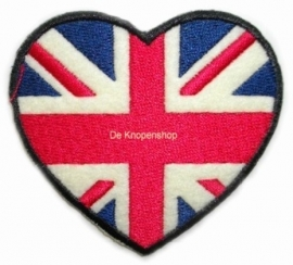 Opstrijk applicatie Engelse vlag hart