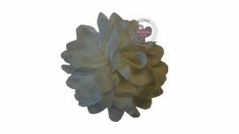 Bloemen chiffon 6.5cm Off white/cream
