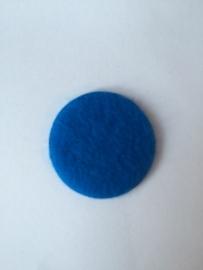 Wol vilten rondjes  royal blue  2.5cm pst