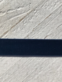 Elastisch haarband velvet donkerblauw 1.5cm ?