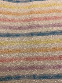 Leer pastel grof glitter regenboog streep