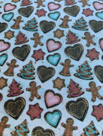 Leer kerst decoratie glitter