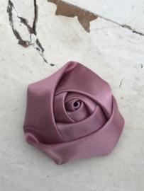 Bloem satijn roos dusty pink