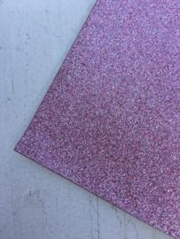 Glitter Leer dusty pink 20x22 cm