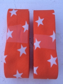 Biasband oranje met witte sterren (2011)