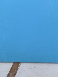 Leer structuur lijntjes licht blauw