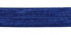 Elastisch biaisband blauw 2 cm
