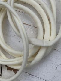 Haarbandje nylon ivoor