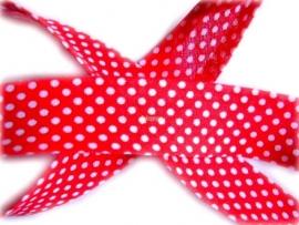 BD8 Biasband rood stip katoen