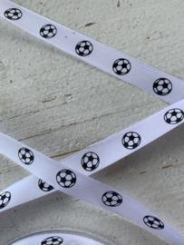 Voetbal wit/zwart sierband