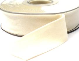 Velvet/fluweel band ivoor dubbelzijdig  2.5cm