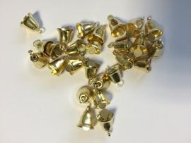 gouden klokjes &klepel 1cm