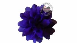 Chiffon bloem paars 6,5cm
