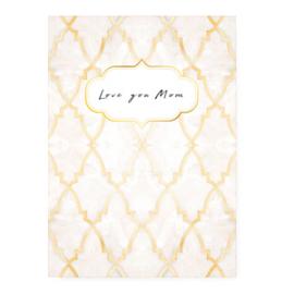 """Sieraden kaart """"Love you Mom"""" Rose"""