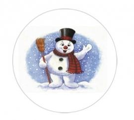 flatback & button sneeuw man blauw