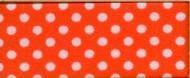 Biasband oranje met witte stip katoen