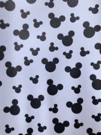 Leer Mickey mouse wit/zwart