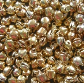 Mini belletjes goud 8mm 6st