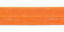 Elastisch biasband neon oranje  2cm