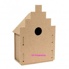 Houten 3D vogelhuisje model Amsterdam