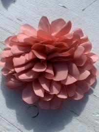 Bloemen satijn 9 cm coral