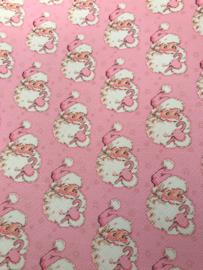 Leer kerstman roze