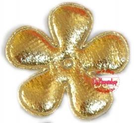 A0204d Bloem goud pst 3,5cm