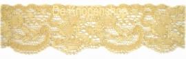 Elastisch kant (haarbandjes) creme/ beige 3.5cm