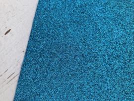 Glitter Leer Turquoise 20x30 cm