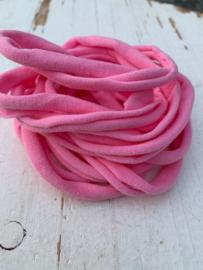 Haarbandje nylon roze
