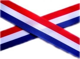 Holland sierband rood,wit & blauw 0,7cm