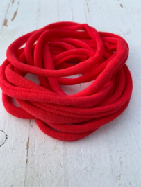 Haarbandje nylon rood