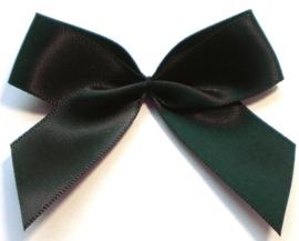 Strik satijn zwart 6.5cm