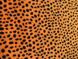 leer vacht panter/tijger terra/gold  20x30 cm